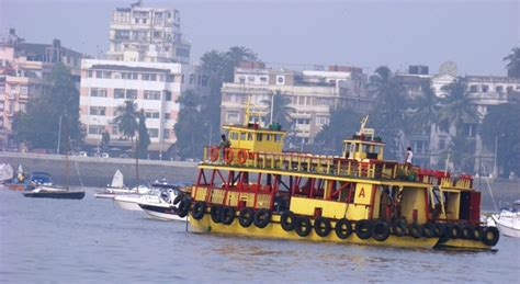 ferry boat mumbai colourful ferry boats in bombay harbour india travel