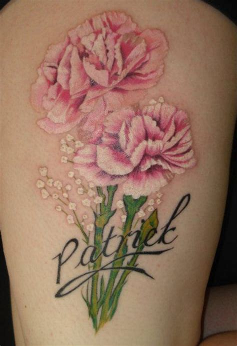 january birth flower tattoo carnation flower images in black carnation