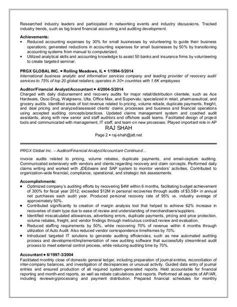 audit staff resume