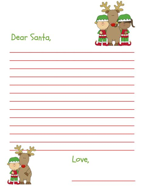 santa letter template dear santa letter free printable for and grandkids