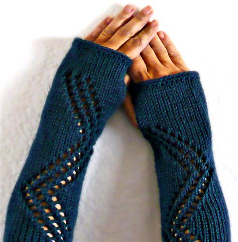 knit warmers knit warmers gauntlets blue lace gloves fall fashion