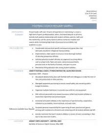 Football Coaching Resume Template Football Coach Resume Samples Tips And Templates