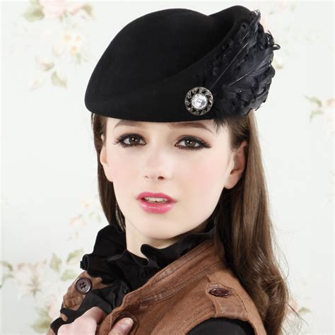 free shipping s vintage style free shipping new vintage wool hats style