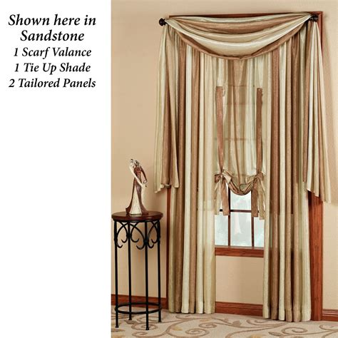 curtains with scarf valance ombre semi sheer scarf valance and window treatments