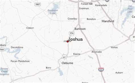 joshua texas map joshua location guide