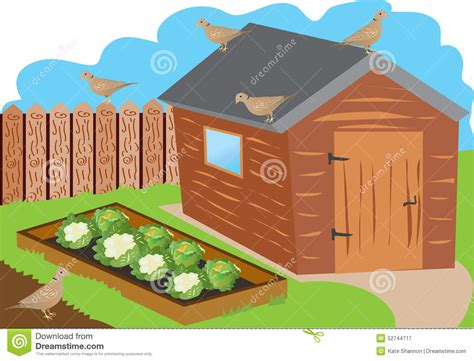 Garage Designs And Prices allotment garden stock vector image 52744717