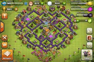 Best th7 trophy base without barb king clash of clans th7 trophy base