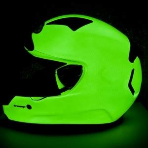 glow in the paint on motorcycle glow in the motorcycle helmets