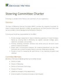 charter template for a committee steering committee charter template