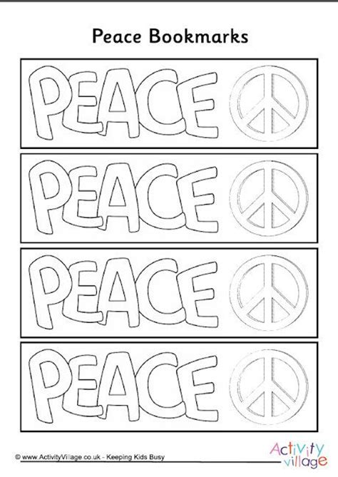 Peace Colouring Bookmarks | 17 best images about scholastic book fair on pinterest