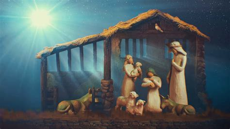 nativity scene desktop wallpaper  pictures