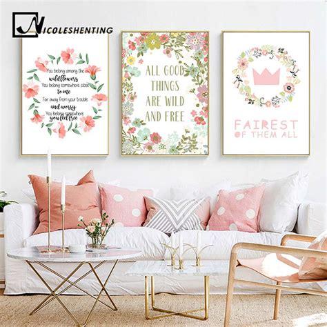buy flower crown nursery quote wall art