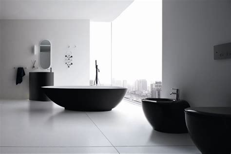 Modern Black And White Bathroom Refine Black And White Sanitary Ware For Modern Bathroom Vela By Rexa Design Digsdigs
