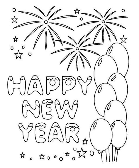 new year card coloring pages free coloring pages of new year card