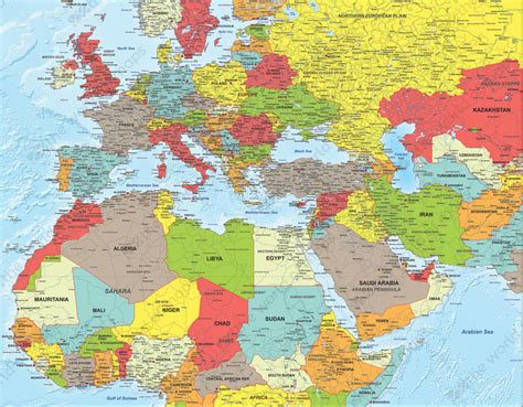 map of europe and middle east digital political map africa middle east and europe