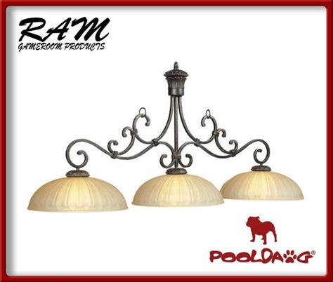 3 shade pool table light barcelona 3 shade pool table light