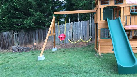 leveling ground for swing set advice needed how to extend the legs of my swing set diy