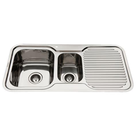 Everhard Sinks by Everhard 980mm Nugleam 1 189 Bowl Left Kitchen Sink With