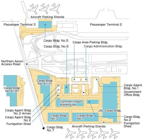 warehouse layout map layout cargo facilities narita international airport