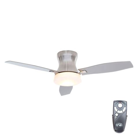 petersford 52 in led brushed nickel ceiling fan home decorators collection petersford 52 in led indoor