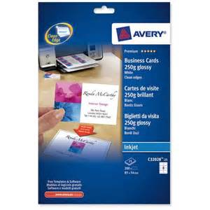 avery glossy business cards avery and clean inkjet gloss business cards 85mm x
