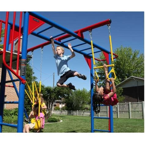 best swing set for the money lifetime 90177 monkey bar playground slide swings