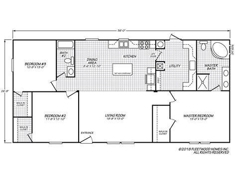 xs floor plan sandalwood xl 28563p fleetwood homes