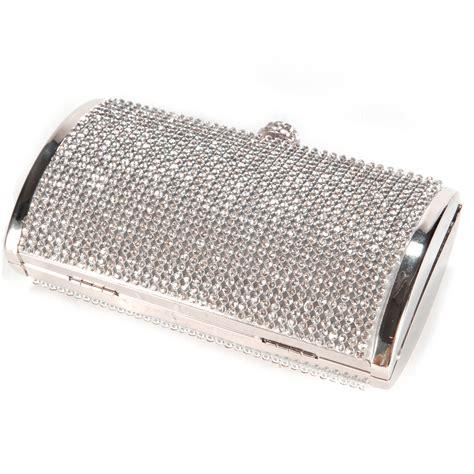 Silver Clutch Bag Ebay | shimmering silver diamante evening clutch bag purse