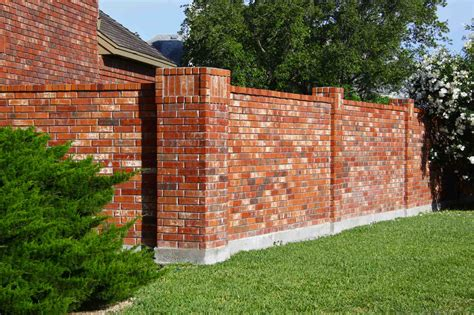 brick fence designs the dramatic fence designs for