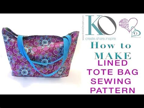 tote bag pattern free youtube how to make a lined tote bag free sewing pattern youtube