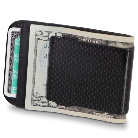 carbon fiber money clip and wallet is both light and small