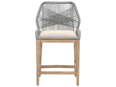 Orient Express Loom Counter Stool by Orient Express Furniture Wicker Loom Platinum Rope Counter