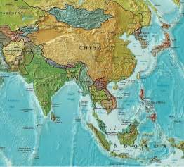 South East Asia Physical Map by Maps Of Asia Tsiosophy Com