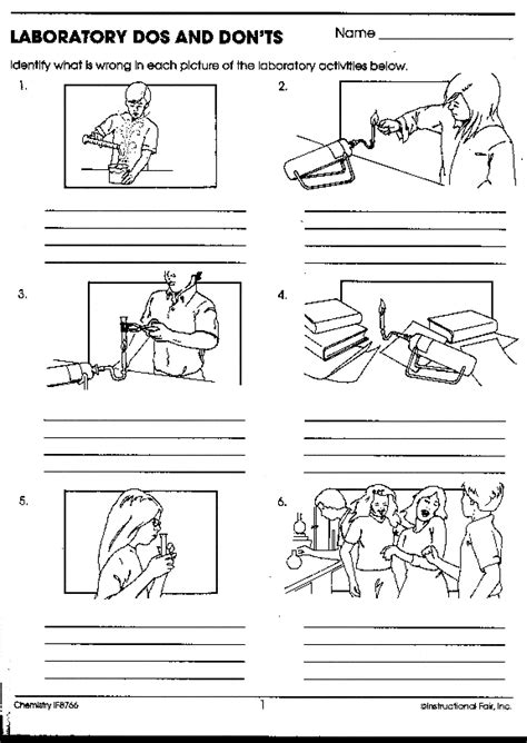 safety in the lab worksheet the best worksheets image