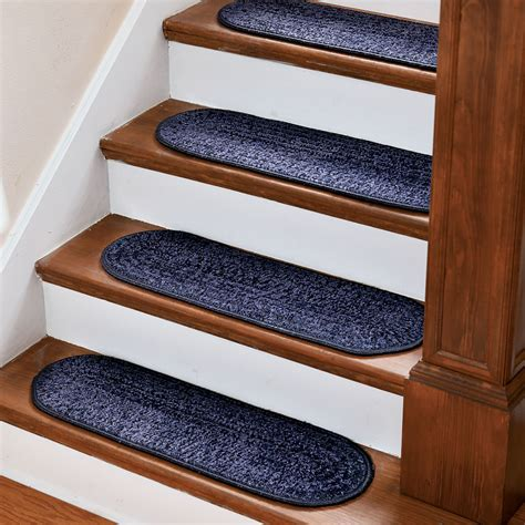 ikea rug mat stair tread diy on our little stairs this would be a piece of cake for the the no slip stair treads hammacher schlemmer