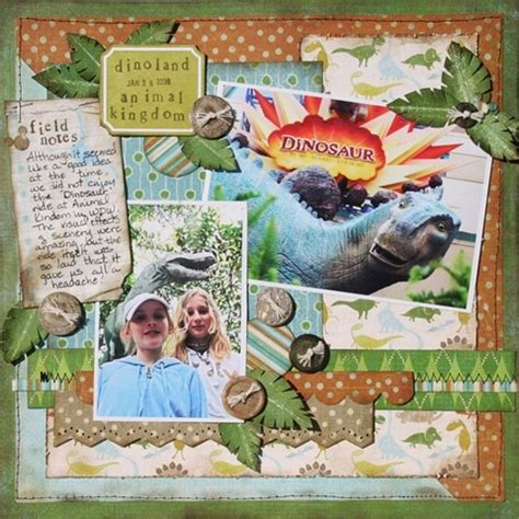 scrapbook layout pdf 27 best dinosaur svg and layouts images on pinterest