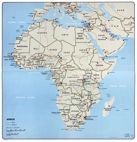 africa political map large political map of africa 1968 africa large