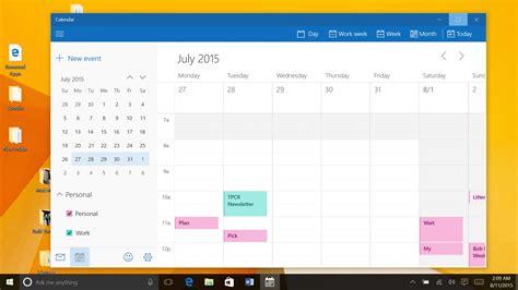 Calendar Desktop App Windows 8 Microsoft Windows 10 For Tablets Review