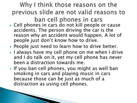 Should Cell Phones Banned While Driving Essays by Cell Phones While Driving Essay Using The Cellphone While