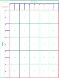 Football Square Board Template by 25 Square Football Pool Sheet Bowl Block Pool Template