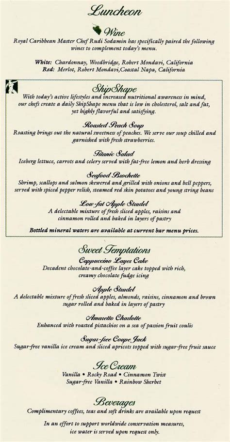 royal caribbean room service menu royal caribbean cruise room service menu detland