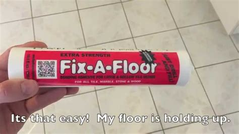 how to fix bathroom tile fix a floor how to repair loose hollow tiles youtube