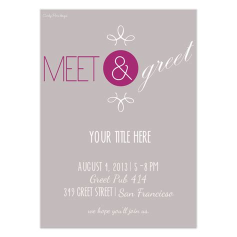 Sle Invitation For Meet And Greet Meet Greet Invitations Cards On Pingg