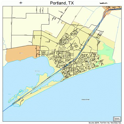 portland texas map map of portland texas my