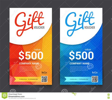 gift voucher market offer template layout with colorful