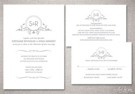 Hochzeitseinladung Englisch by Monogram Wedding Invitations Suite