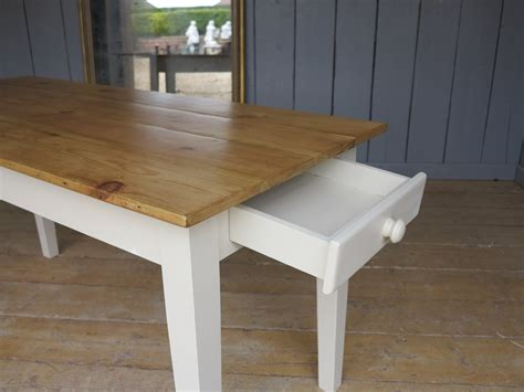 floorboard top kitchen farmhouse table with drawer 7815