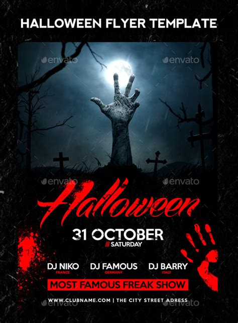 Templates For Halloween Flyers | 25 high quality halloween psd flyer templates