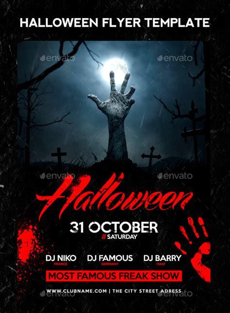 25 high quality halloween psd flyer templates