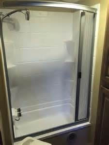 rv bathroom doors rv net open roads forum travel trailers best shower mod
